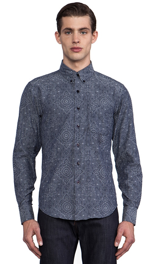 Regular Shirt Paisley Jacquard