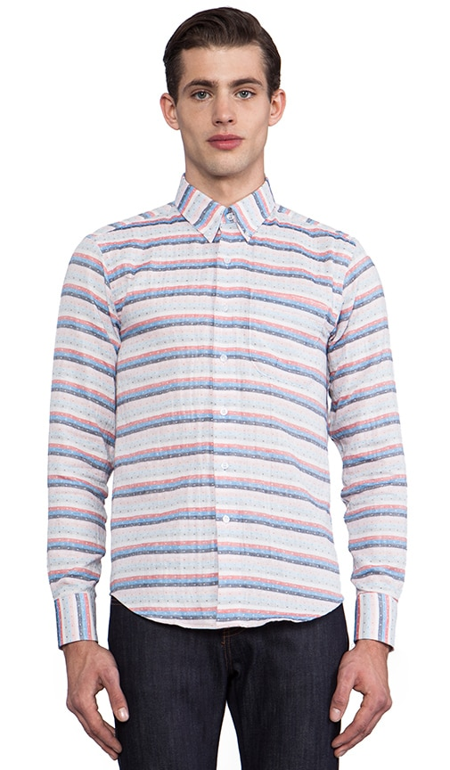 Regular Shirt Gauze Stripes + Dots