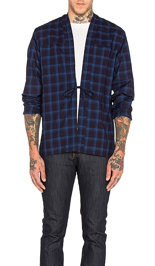 Naked & Famous Denim x REVOLVE Kimono Shirt in Blue