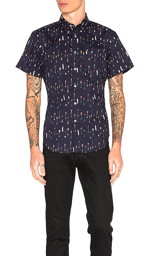 Naked & Famous Denim S/S Shirt in Navy