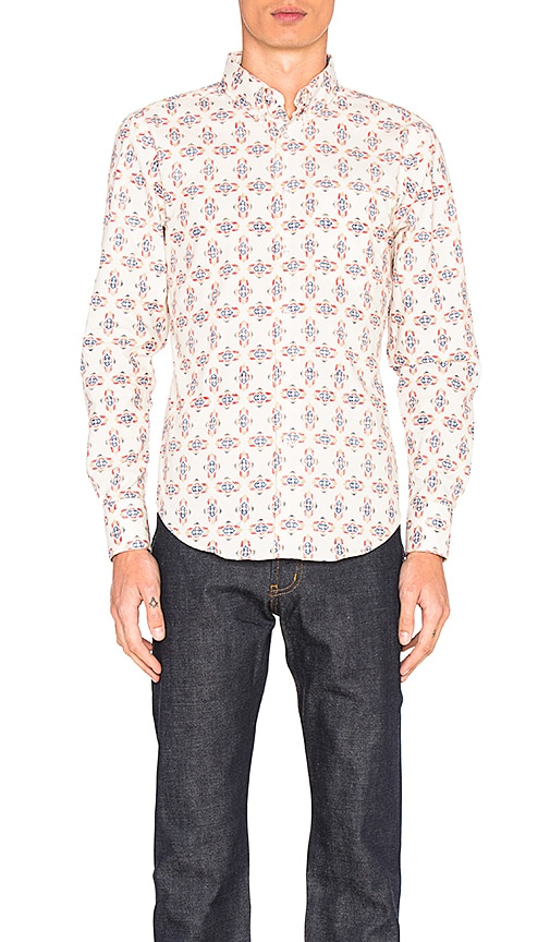 Naked & Famous Denim Regular Shirt in Ivory