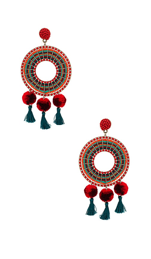 Nannacay Rode Earrings in Red