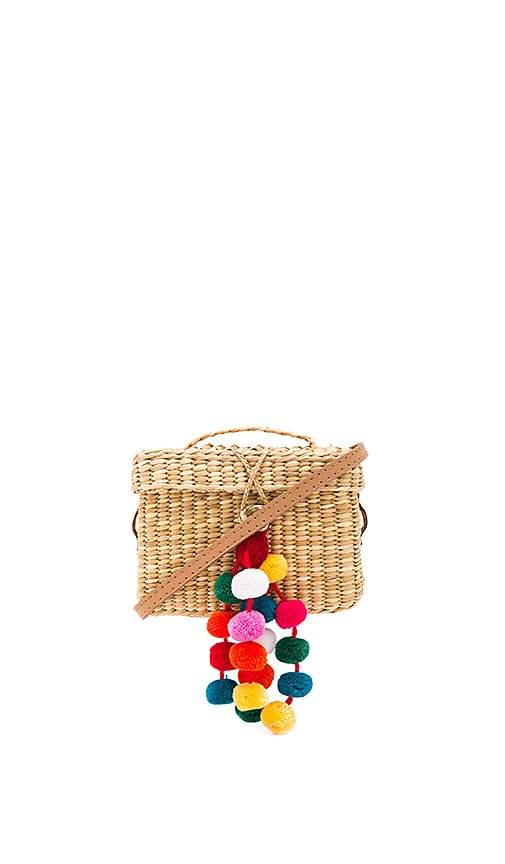 Nannacay Baby Roge Multi Pompom Bag in Beige
