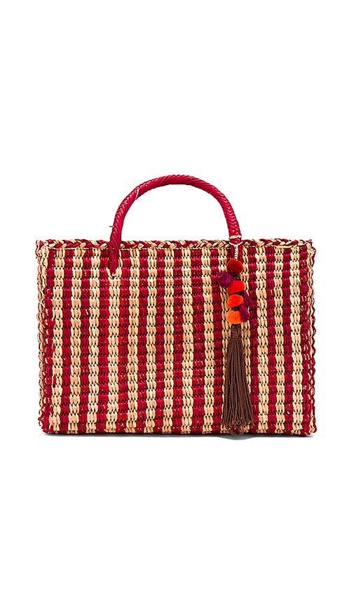 Nannacay Large Maldives Tote in Red