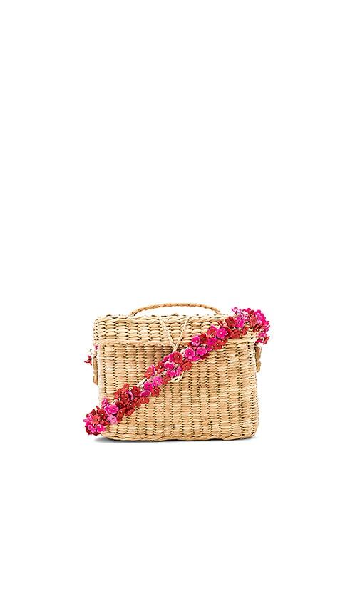 Nannacay Roge Small Flower Bag in Beige