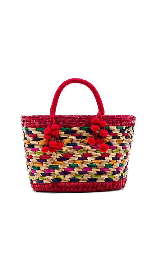 Nannacay Zanzibar Aninha Tote Bag in Red