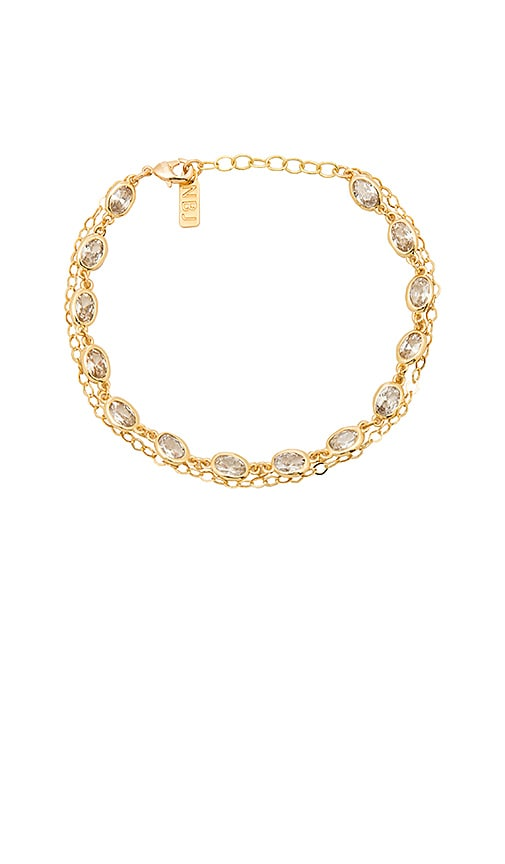 Natalie B Jewelry Union Square Bracelet in Metallic Gold