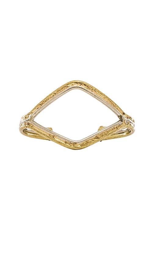 Natalie B Jewelry Wide Mouth Bracelet in Brass