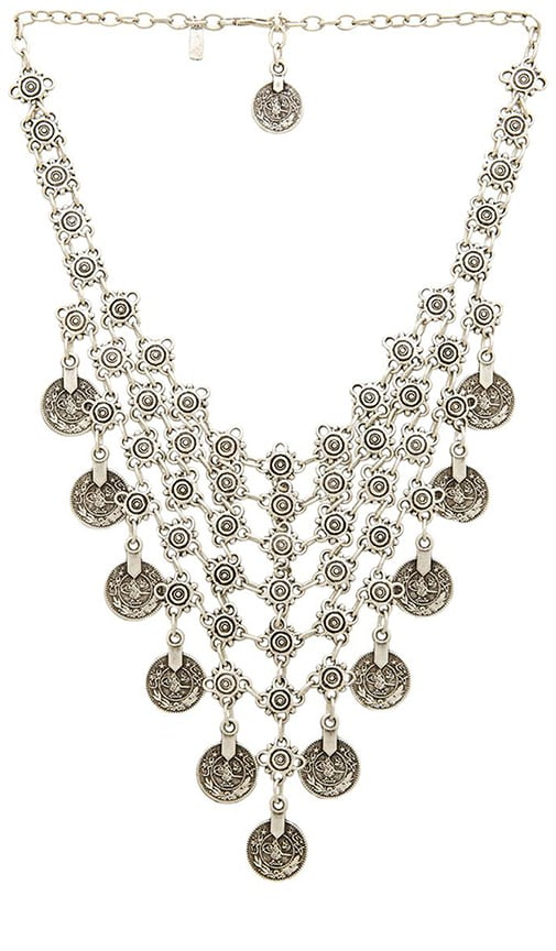 Natalie B Jewelry Queens Veil Necklace in Silver
