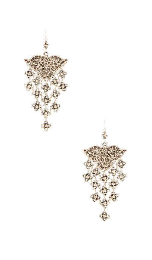 Natalie B Jewelry Ceren Earring in Metallic Silver