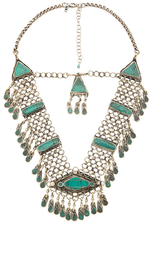 Natalie B Jewelry Haya Necklace in Pacific Green