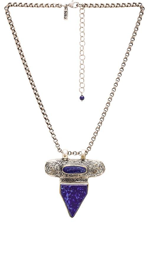 Natalie B Jewelry Zephyr Necklace in Silver & Lapis
