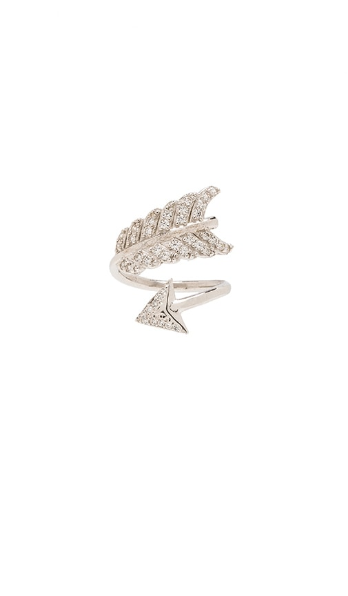 Shooting Arrow Midi Ring