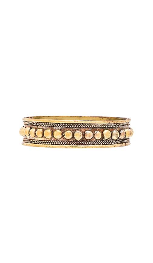 Natalie B Jewelry Round O Bullets Bracelet in Brass