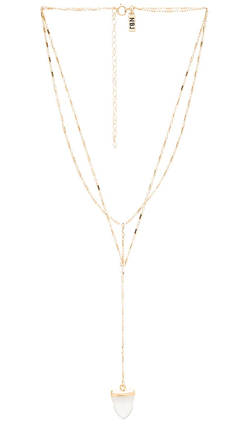 Natalie B Jewelry Lost & Found Necklace in Metallic Gold