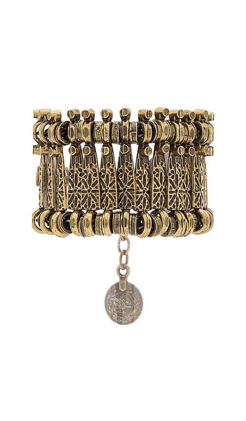 Natalie B Jewelry Basilica Bracelet in Brass