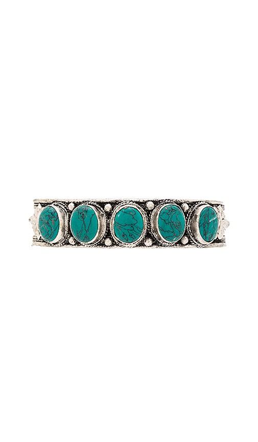 Natalie B Jewelry Santa Fe Cuff in Metallic Silver