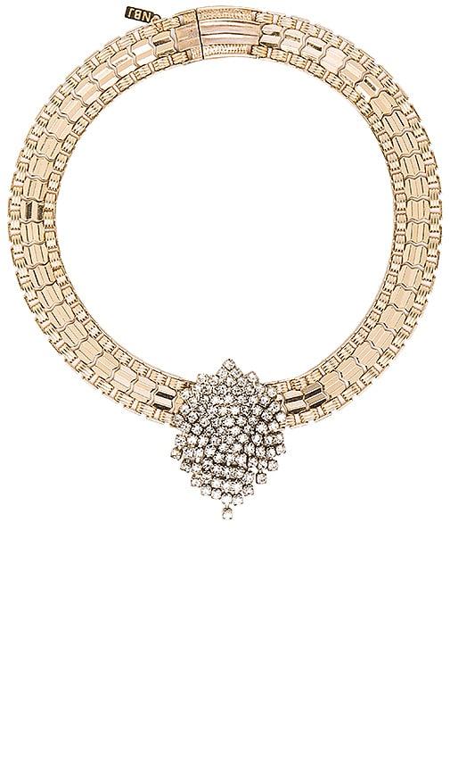 Natalie B Jewelry Monroe Vintage Choker in Metallic Gold