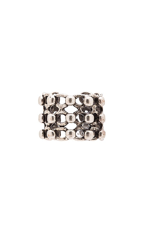 Natalie B Jewelry Knights Armour Ring in Metallic Silver