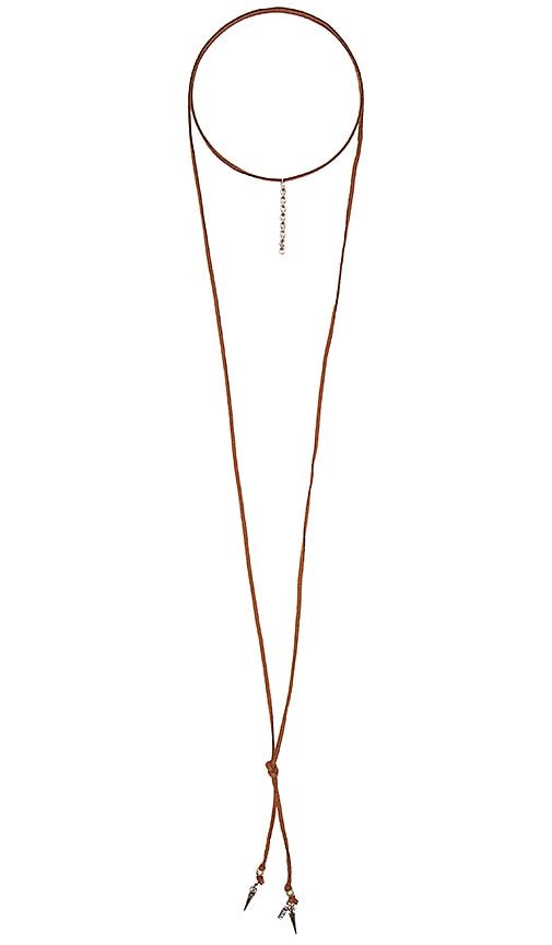Natalie B Jewelry Coral Sunset Necklace in Brown
