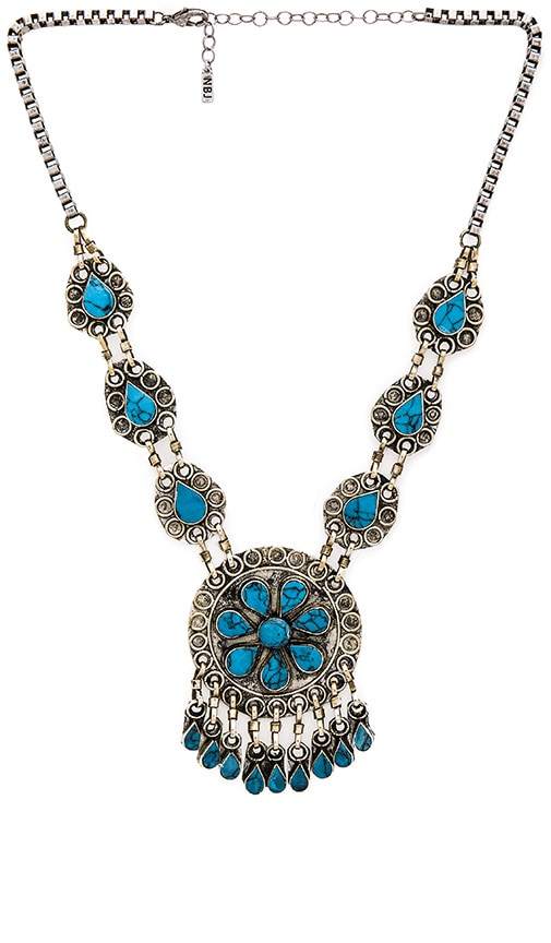 Natalie B Jewelry The Huntress Necklace in Turquoise