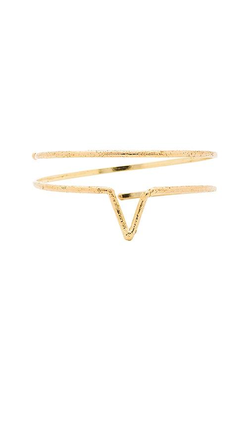 Natalie B Jewelry Wanderer Wrap Bracelet in Metallic Gold