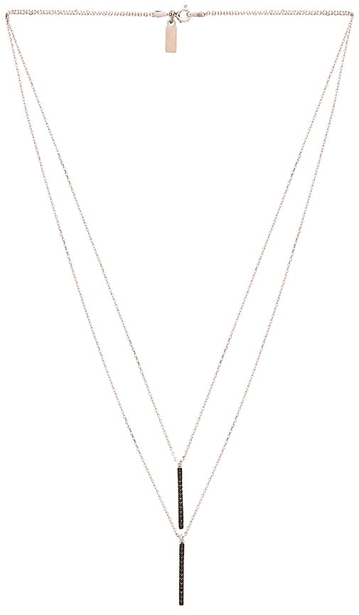 Natalie B Jewelry Uptown Necklace in Silver & Black