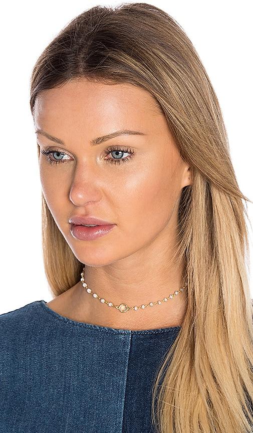 Natalie B Jewelry Buried Treasure Choker in Gray