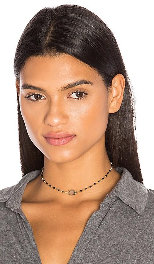 Natalie B Jewelry Buried Treasure Choker in Metallic Gold