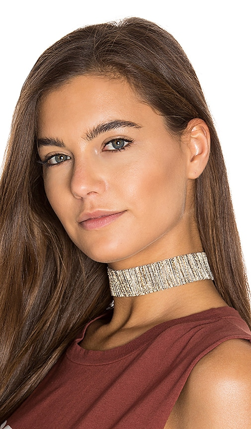 Natalie B Jewelry Iman Choker in Metallic Silver
