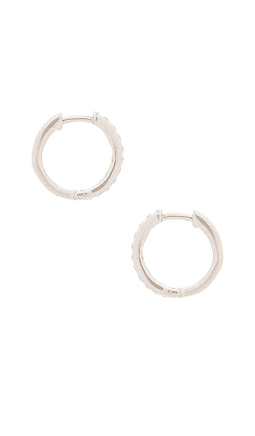 Natalie B Jewelry Uptown Huggie Earrings in Metallic Silver