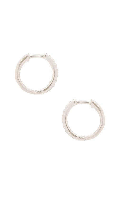 Natalie B Jewelry Uptown Huggie Earrings in Metallic Silver
