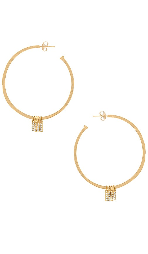 Natalie B Jewelry x REVOLVE Manhattan Hoop Earrings in Metallic Gold