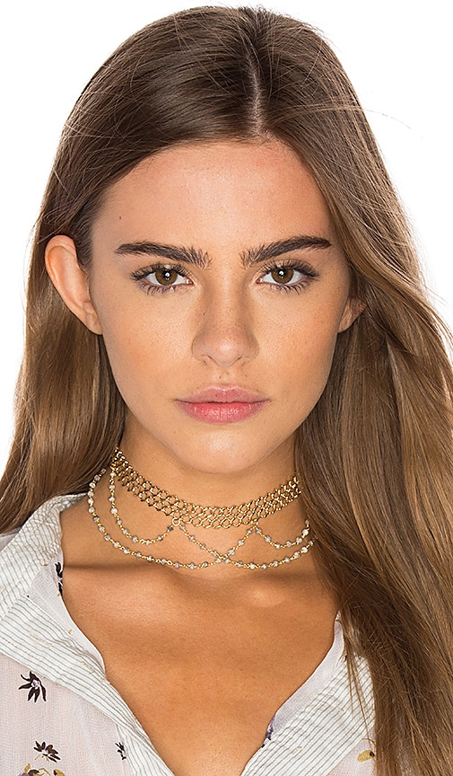 Natalie B Jewelry x REVOLVE Lexington Choker in Metallic Gold