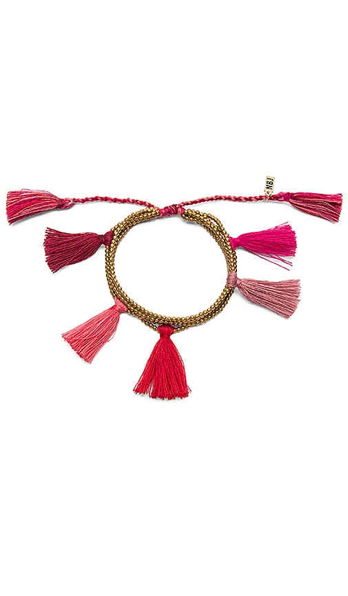 Natalie B Jewelry Dara Tassel Bracelet in Metallic Gold
