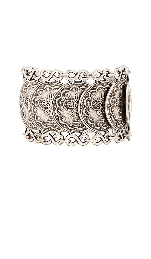 Natalie B Jewelry Cypress Bazaar Bracelet in Metallic Silver