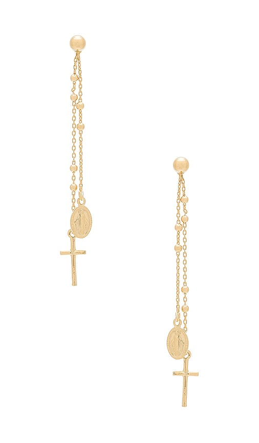 Natalie B Jewelry Miraculous Earrings in Metallic Gold