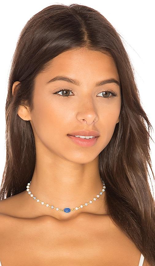 Natalie B Jewelry Buried Treasures Camilla Choker in Metallic Gold