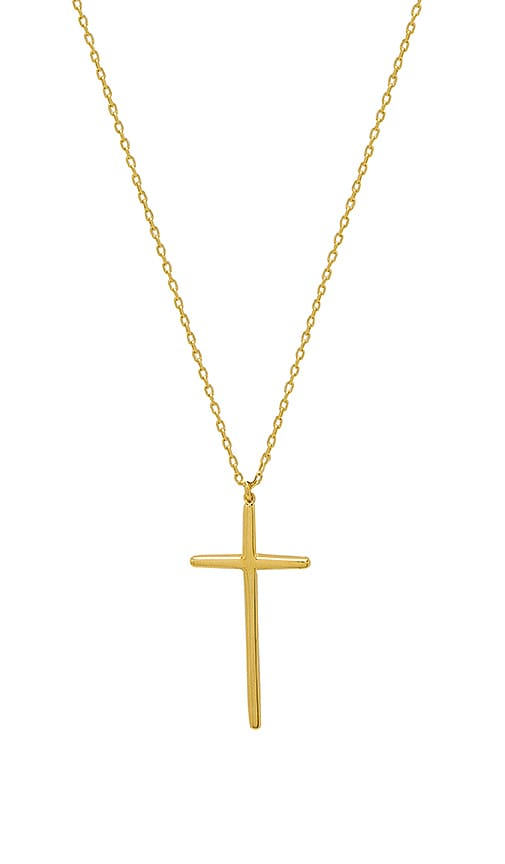 Natalie B Jewelry Donatella Cross Necklace in Gold