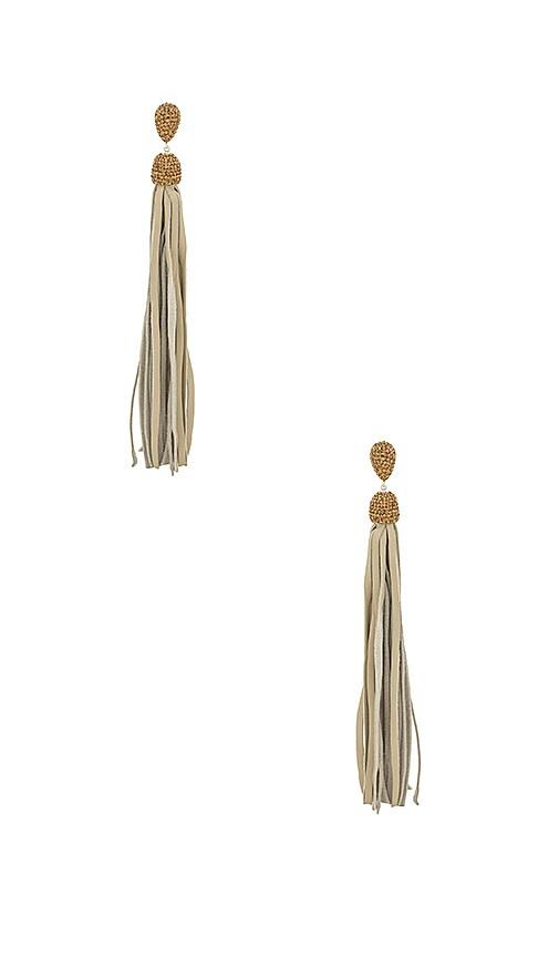 Fascino Leather Tassel Earrings