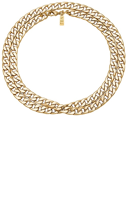 Dea Necklace in Metallic Gold Natalie B Jewelry