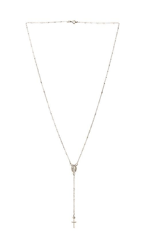 Natalie B Jewelry Roma Rosary Necklace in Silver