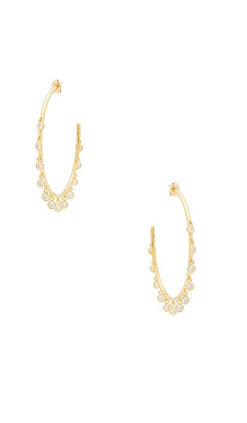 Natalie B Jewelry Odyssey Earrings in Metallic Gold