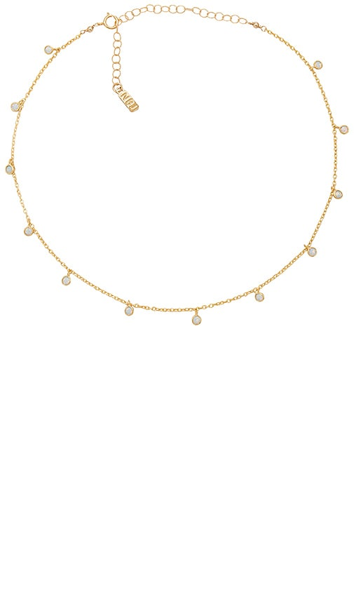 Natalie B Jewelry Dea Necklace in Metallic Gold