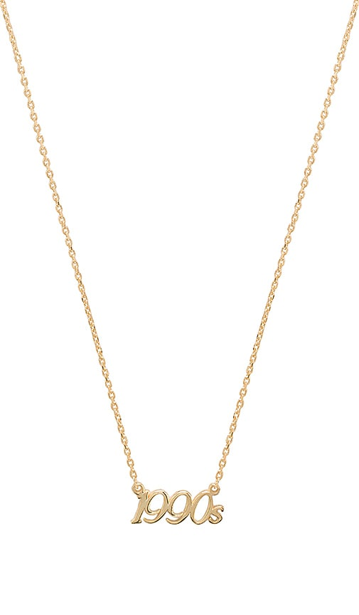 Natalie B Jewelry X REVOLVE 1990's Charm Necklace in Gold