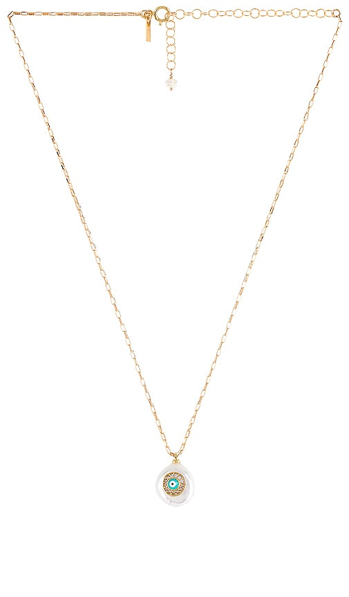 Pearl of Love Evil Eye Necklace