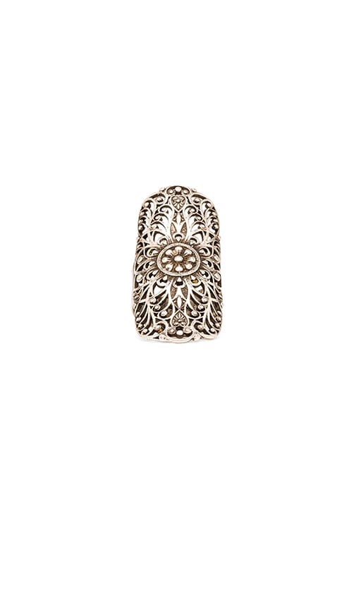 Natalie B Jewelry Get Laced Ring in Silver