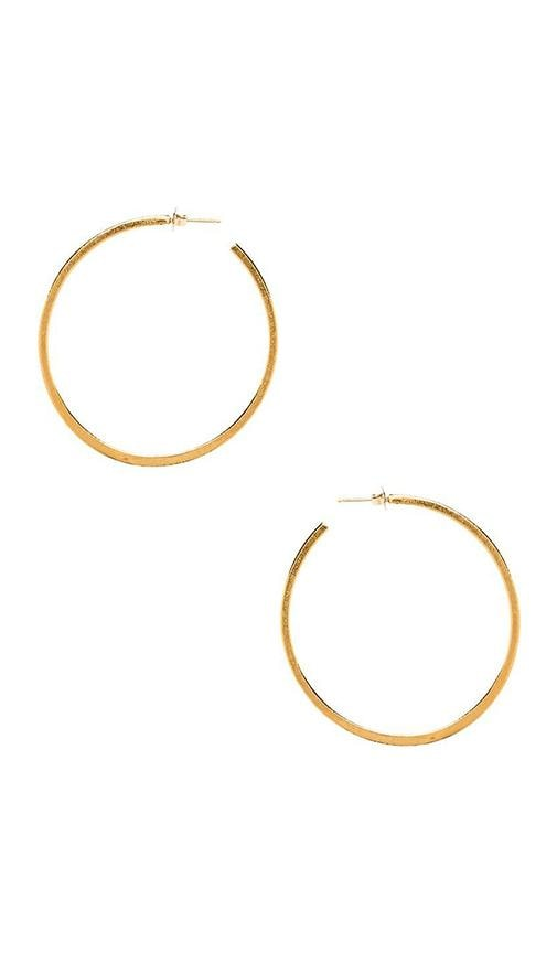 Natalie B Jewelry Hoop Earring in Metallic Gold