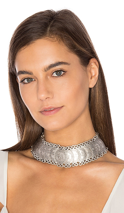 Natalie B Jewelry Cyprus Choker Necklace in Silver
