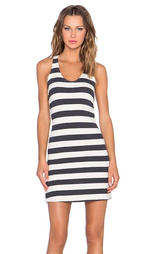 Nation LTD Bridgette Mini Dress in Bonfire Cotton Stripe